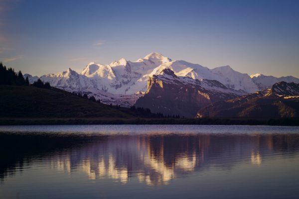 2020 Mont Blanc Blues - Sunrise Lac Joux Plane 750 Nina Clare Photography