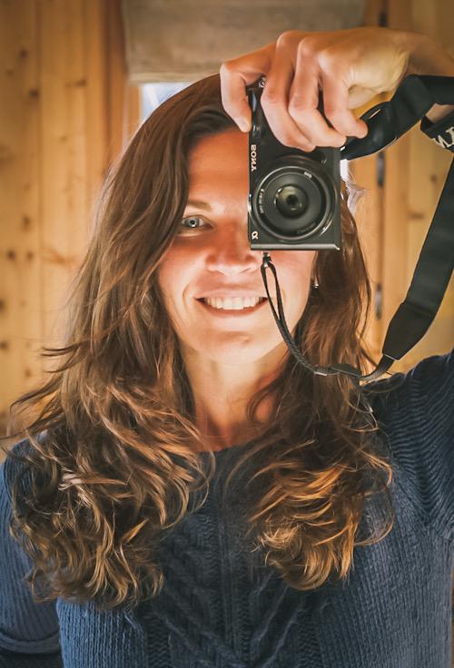 Nina Clare Alps photographer self portrait